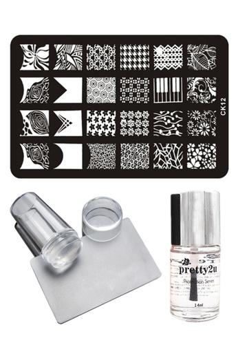 Pretty2u Nail Art Stamp Plate CK12 Set PR716BE33IRAMY_1