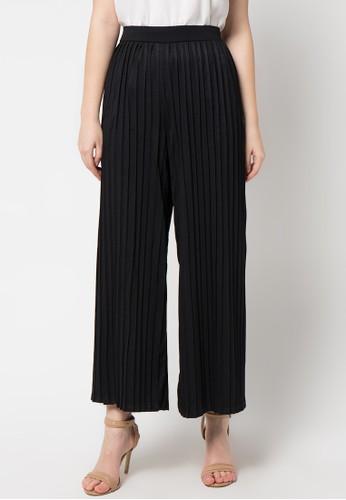 ECLAT APPAREL black Pleated Pants EC565AA54YZXID_1