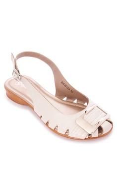 Open Heel Flat Sandals