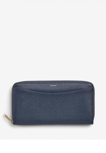 SKAGEN blue Skagen Continental - Leather - Zip Wallet - Dompet Skagen Wanita - SWS0260496 05A2BACD39702EGS_1