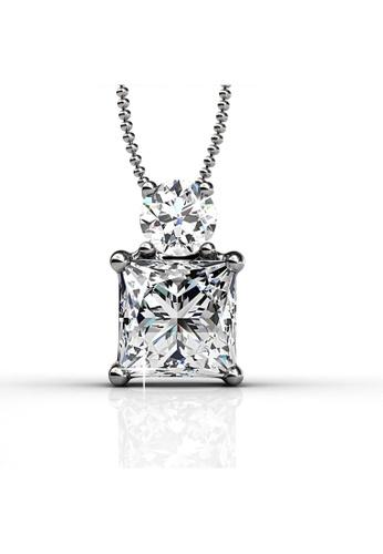 Her Jewellery silver Swarovski® Zirconia - Snowman Pendant (18K White Gold Plated) Her Jewellery HE581AC0RADIMY_1