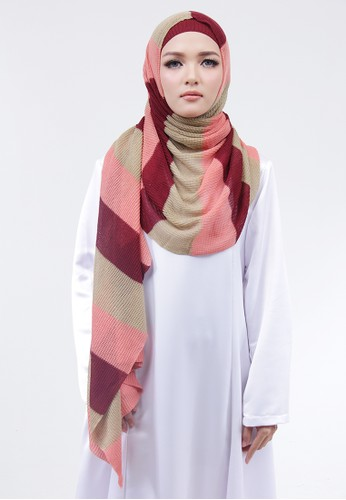 Cantik Kerudung red and pink and brown Valery Instant CD4E0AACEC38B2GS_1