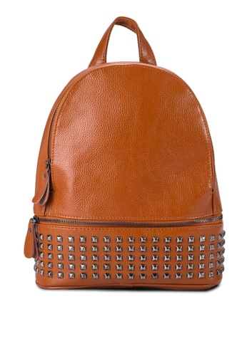 Buy Leather Lucent Embellished Leather Backpack | ZALORA Singapore