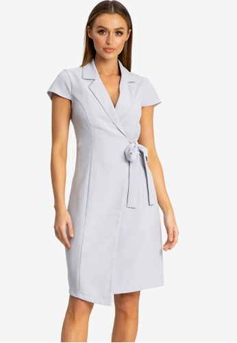 REUX grey Khali Blazer Dress BBB32AAAF6428FGS_1