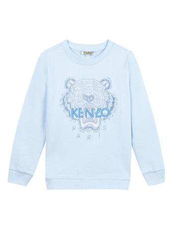 KENZO KIDS blue KENZO TIGER BOYS SWEATSHIRT C3889KA9D553E8GS_1