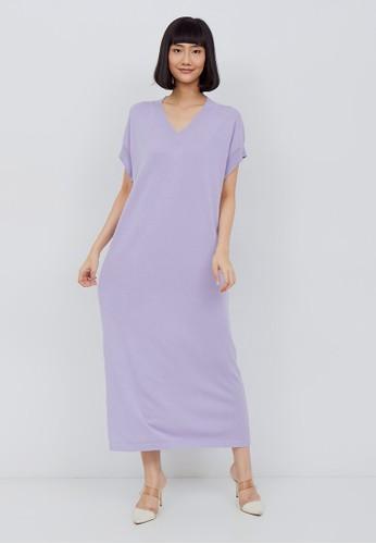 Kimora Kei lilac purple Kimora Kei Baju Wanita Yoko Dress Lilac 349E2AA2EA0548GS_1