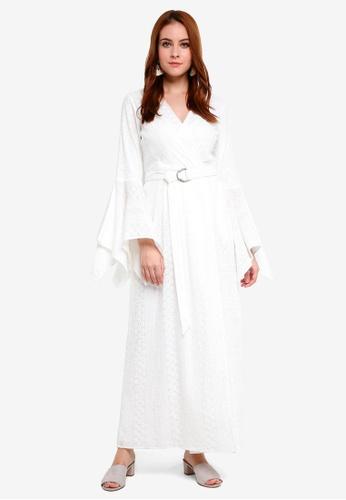 Zalia white Eyelet Wrap Dress 90D5CAAAE3D019GS_1