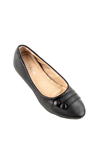 Otto black Button Shoes A2029SH96EAD83GS_1