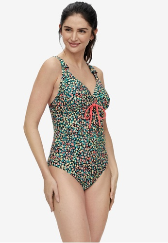 Mama.licious green and multi Nursing Russel Nathalia Printed Swimsuit BA620USFCA5AB0GS_1