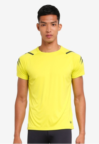Asics yellow Icon Short Sleeve Top AS989AA0SVQRMY_1