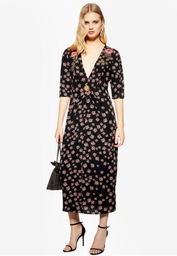 many fashionable 100% genuine cheap sale Ditsy Embellished Midi Dress