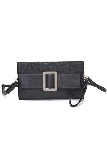 Halo black Two Way Clutch Party Bag 9D65CACA82C50BGS_1
