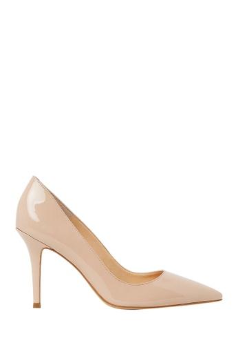 Nina Armando beige Leah Patent Leather Stiletto Heel NI342SH0FV9FSG_1