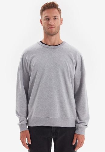 Trendyol grey Gray Oversized Sweatshirt FD531AA34A3DCAGS_1