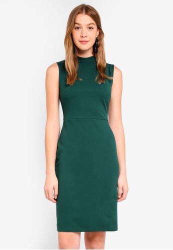 Dorothy Perkins green Green Fold Neck Pencil Dress EFD5EAA08B5B4AGS_1