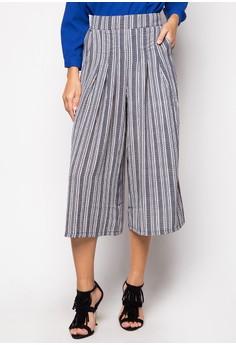 Lux Stripe Mid-Length Pants