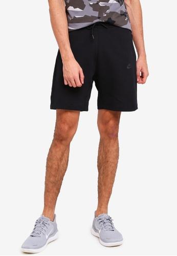Nike black AS M NSW Tch Flc Shorts 8820AAA62EDFA6GS_1