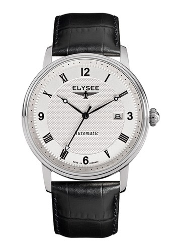 Elysee Male Watches Monumentum Automatic Jam Tangan Pria - Putih - Strap Leather Strap - 77004