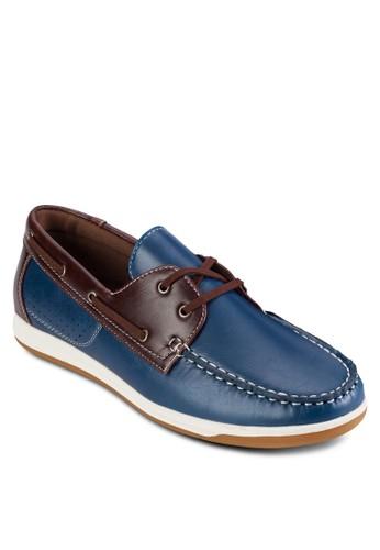 撞色仿皮雙眼繫帶莫卡辛鞋, 鞋, esprit官網鞋
