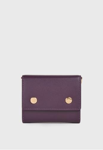 Tocco Toscano purple Holly III Bifold Cardholder (Purple) 9F0EBAC519B26EGS_1