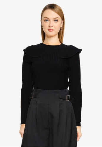 Brave Soul black Knitted Ribbed Jumper A4453AA45438BFGS_1