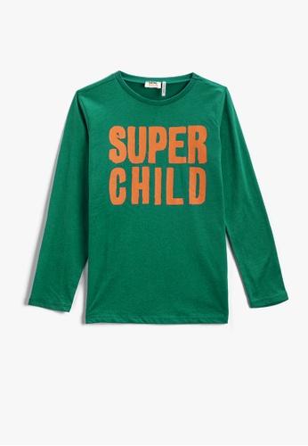 KOTON blue T-Shirt For Boys B25F7KA920C60BGS_1