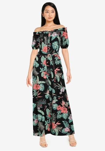 ZALORA BASICS multi Off Shoulder Dress with Self Tie 3AF64AA19015D3GS_1