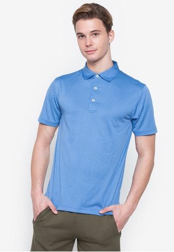 Forbs blue Ramé Printed Dry Fit Polo Shirt ABF52AA6680CD7GS_1