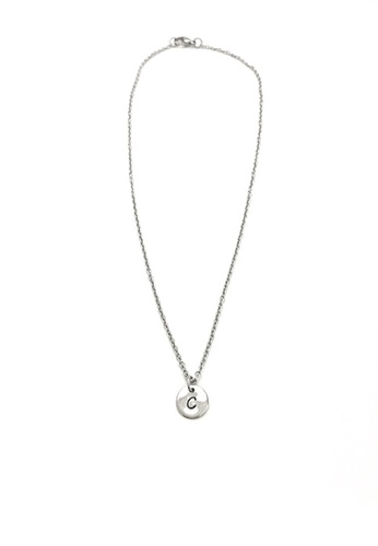 Trinkets for Keeps silver Initial C Stainless Steel Necklace TR047AC72TUPPH_1
