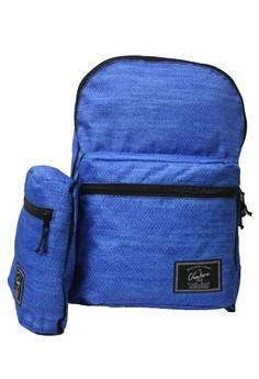 Sapphire Snake Skin Fold and Go Backpack