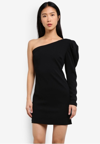 Mango black Puffed Sleeves Dress MA193AA0RW0BMY_1