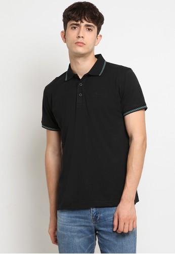 Police Denim black Comfort Polo Shirt 32871AAC47A430GS_1