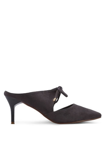 Something Borrowed grey Pointed Kitten Heels With Bow Detail 458F2SHE2F3B03GS_1