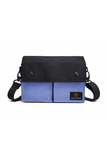 The Dude black and blue Wander Sling Bag 55FD4AC875BACCGS_1