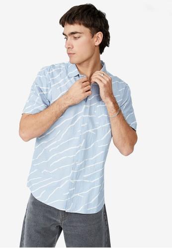 Cotton On blue Vacay Short Sleeve Shirt 4A7E4AACCFF236GS_1