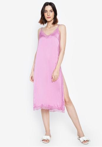 Women'Secret pink Midi Nightdress with Lace Detail A7C7BAAE88E32EGS_1