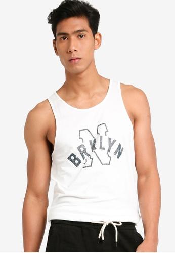 Cotton On 白色 Tbar Anchor Tank上衣 E88EEAAFBD3171GS_1
