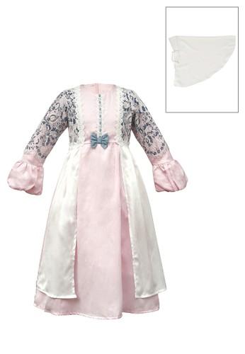 ESTRELLA pink Muslim Dress Anak ESM 215 6/12 7B2F1KA40F196FGS_1
