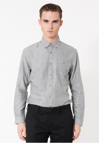 The Executive grey Grey Long Sleeve Shirt TH044AA49RGGMY_1