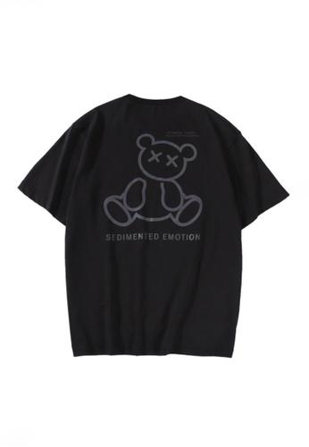 Twenty Eight Shoes black VANSA Unisex Reflective Short Sleeve T-Shirt VCU-T1001 4B00BAA981FA94GS_1