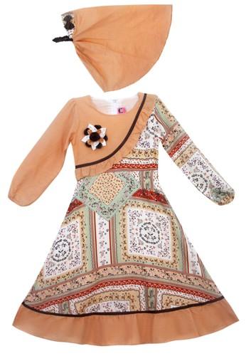TWO MIX brown Two Mix Gamis Anak Perempuan / Busana Muslim Anak Cewek / Dress Anak Muslim 4005 74862KAF09FA63GS_1