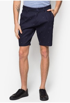 Printed Leave Shorts