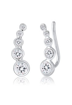 harga Earring Ear Cuff Circle Swarovski® Crystals Zalora.co.id
