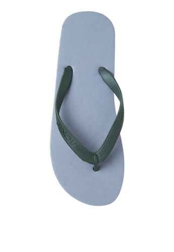 BENCH grey Basic Rubber Slippers BE550SH98MBPPH_1