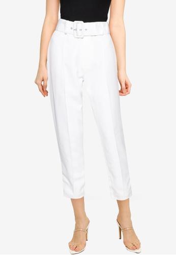 MISSGUIDED white Petite Co Ord Seam Cigarette Trousers C29BBAA3A5ED9FGS_1
