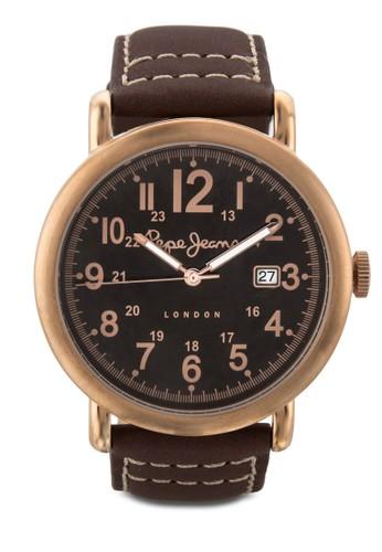 R2351105003 Charlie 數字顯示皮革男esprit 品質錶, 錶類, 飾品配件