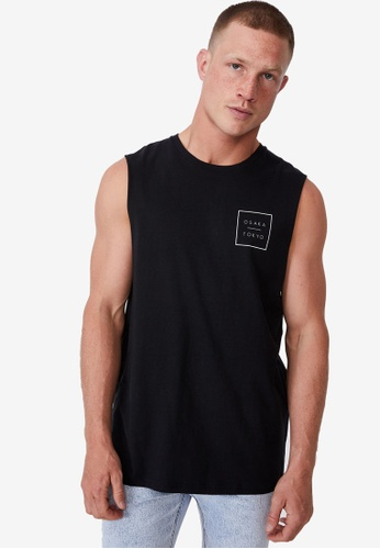 Cotton On black Tbar Muscle Tank Top E6A22AA2F62A53GS_1