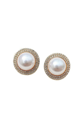 Kings Collection gold Vintage Faux Pearl Earrings (KJEA20062) 9B13CACBCEA2BCGS_1