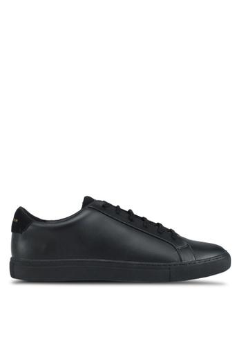 KG Kurt Geiger black Donnie Black Leather Sneakers A18EBSHDBC0162GS_1