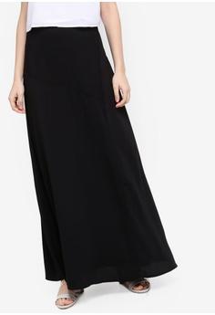3a4b6b4f41697 Zalia black Asymmeteric Panel Skirt 0ADD1AA415A95DGS 1